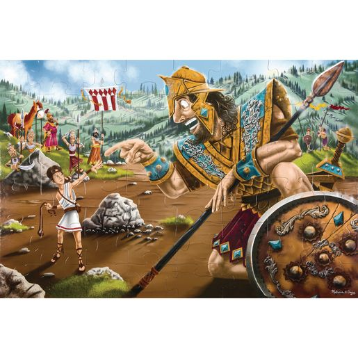 David and Goliath Floor Puzzle