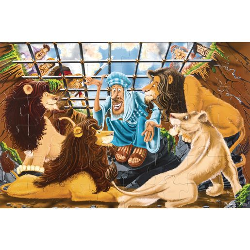 Image of Daniel and the Lions' Den Floor Puzzle