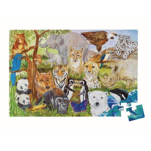 Image of Jumbo Animal Floor Puzzle - Endangered Species