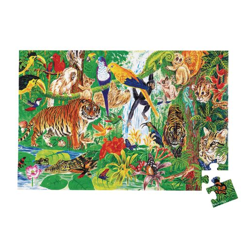 Jumbo Animal Floor Puzzle - Rainforest