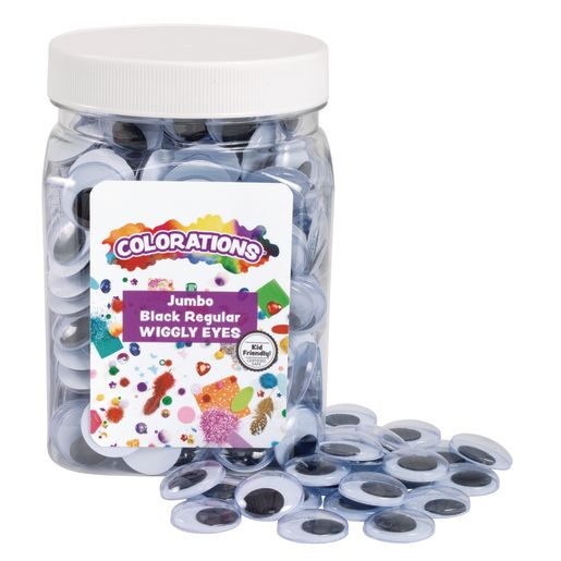 Image of Colorations Jumbo Wiggly Eyes - 300 Pieces
