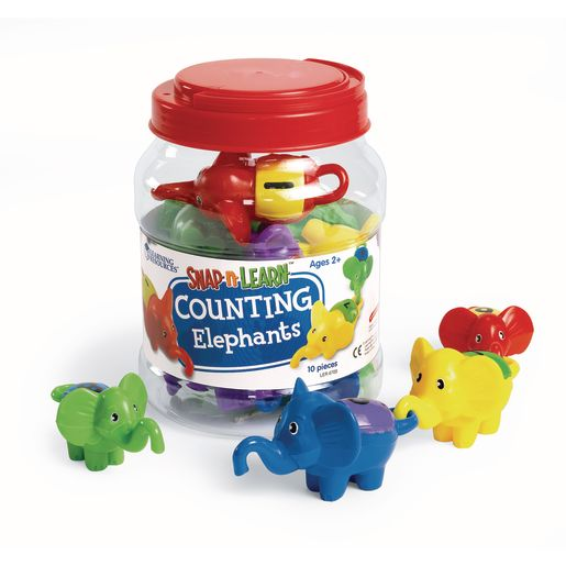 Image of Snap-n-Learn Counting Elephants - 10 Pieces