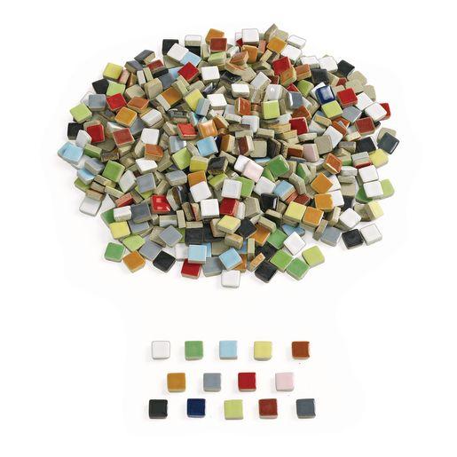 Ceramic Mosaic Tiles - 1 lb.