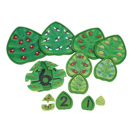 Image of Excellerations Wooden Counting Critters Puzzles - Set of 10