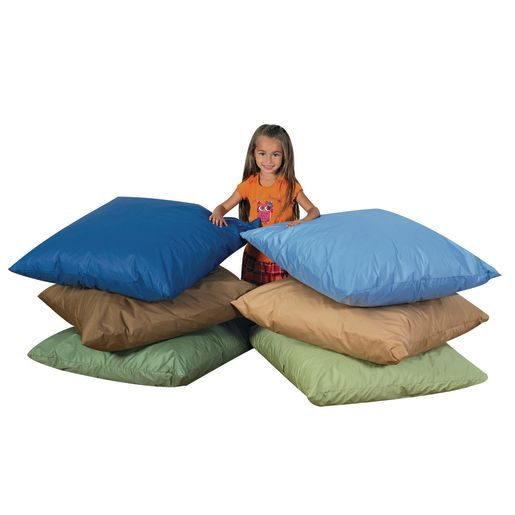 Image of Cozy Woodland Floor Pillows - 27 Set of 3 Light Tones