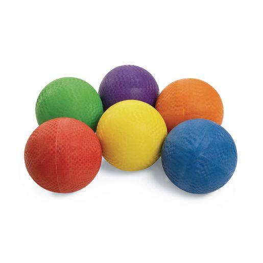 Excellerations® Premium Rubber Playground Balls - Set of 6