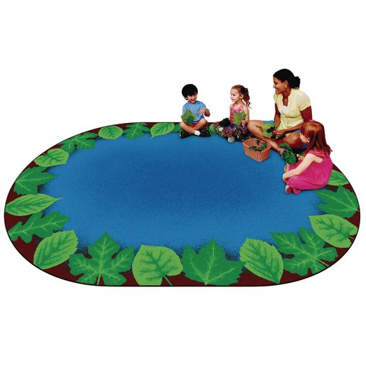 "Environments® Harmony Leaf Places Carpet - 8' 3"" x 11' 8"" Oval"