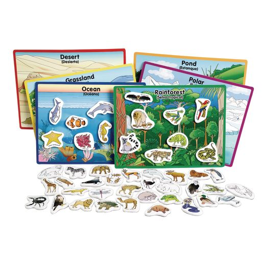 Excellerations® Animals in Their Habitats - 6 Boards, 48 Pieces_0