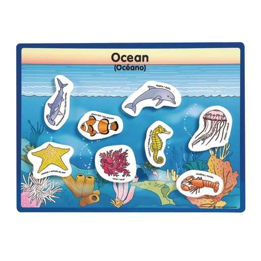 Excellerations® Animals in Their Habitats - 6 Boards, 48 Pieces