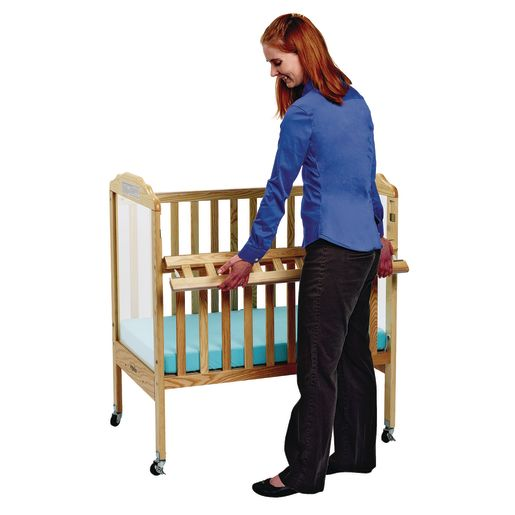 Angeles® Safe-T-Side® Crib - Natural Clear View