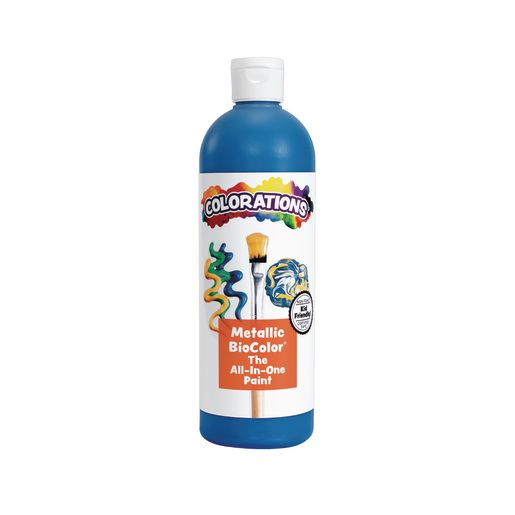 Image of BioColor Paint, Metallic Blue - 16 oz.
