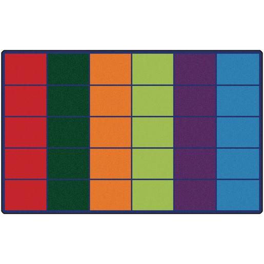 "Colorful Rows Seating 8'4"" x 13'4"" Rectangle Premium Carpet"