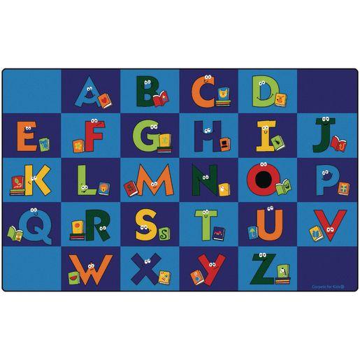 "Reading Letters 7'6"" x 12' Rectangle Premium Carpet"