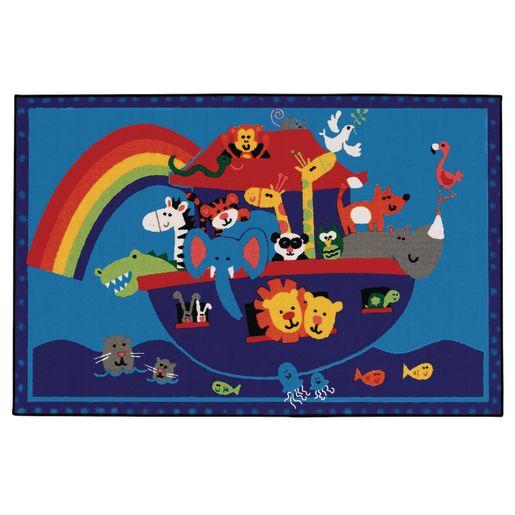 Image of Noah's Animals 4' x 6' Rectangle Kids Value Carpet