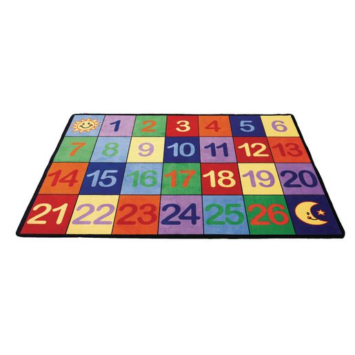 "Counting Numbers Seating Rug - 8'5"" x 11'9"" Rectangle"
