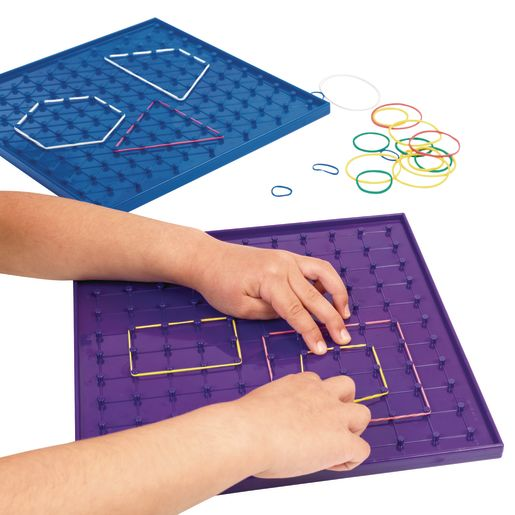 """Excellerations® 9"""" Geoboards - Set of 6"""