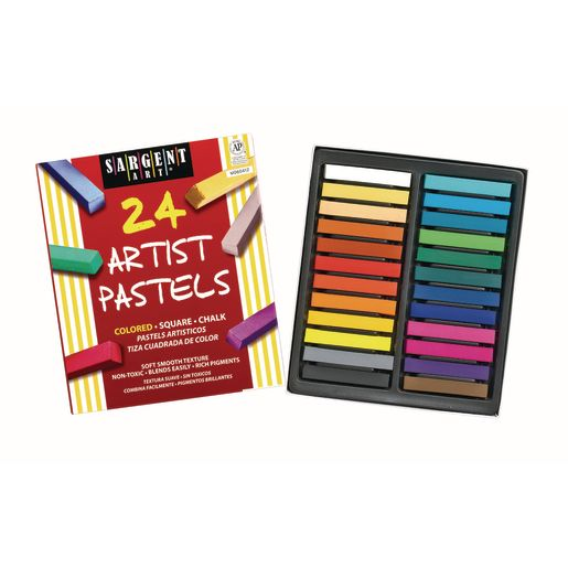 Square Chalk Pastels, Set of 24