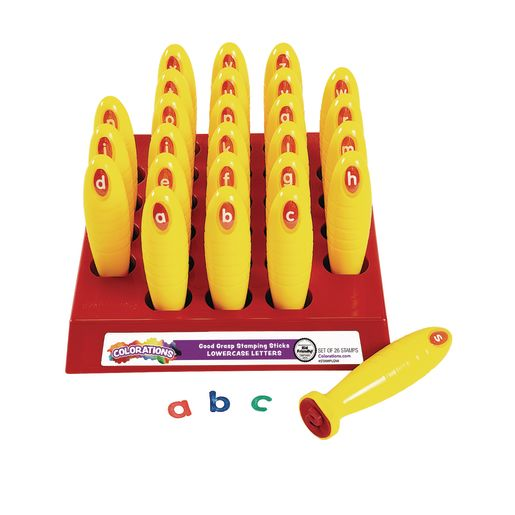 Image of Colorations Good Grasp Stamping Sticks - Lowercase