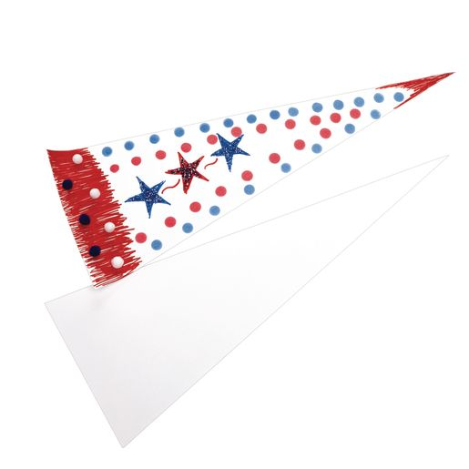 Jumbo Cardstock Pennants - Set of 24