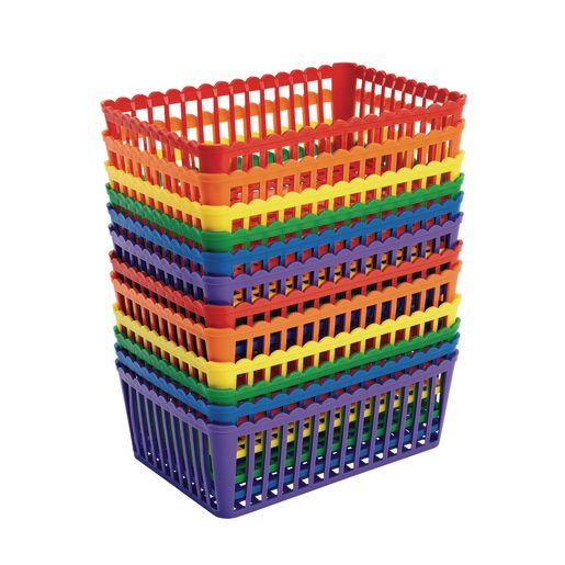 Rainbow Class Baskets - Set of 12