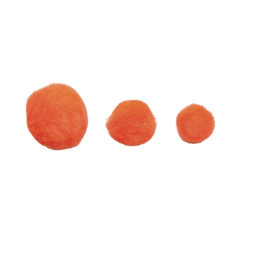 Colorations® Pom-Poms, Orange - 100 Pieces