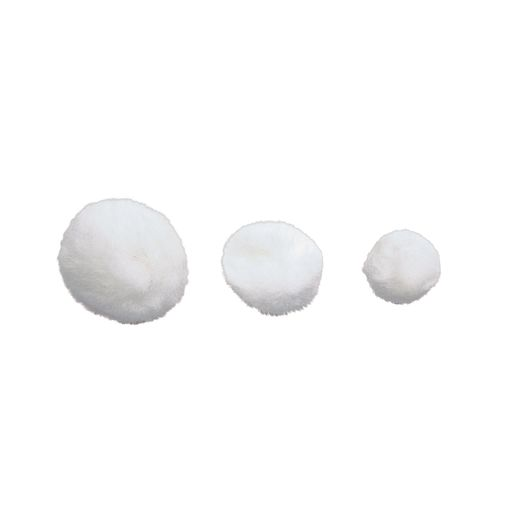 Colorations® Pom-Poms, White - 100 Pieces