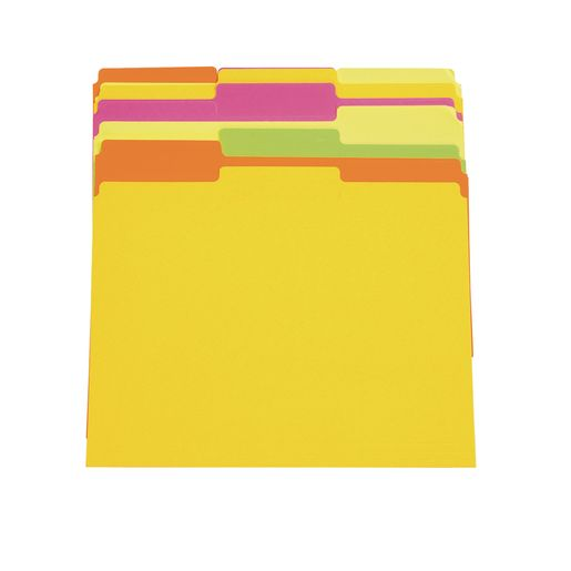 Letter Size Neon File Folders - Set of 10