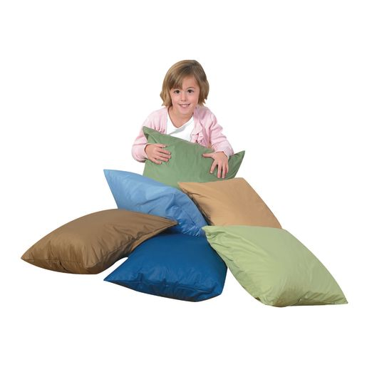 Image of 17 Cozy Woodland Floor Pillows - Set of 6