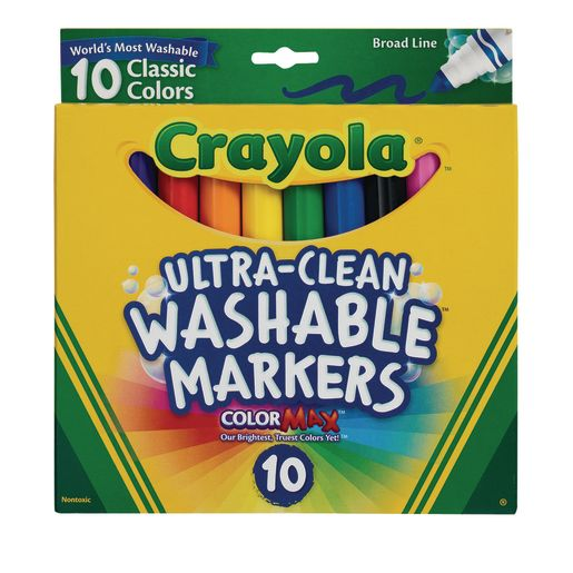 Image of Crayola Ultra-Clean Markers - Set of 10