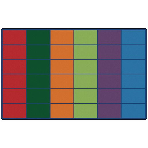 Image of Colorful Rows Seating 8'4 x 13'4 Rectangle Premium Carpet