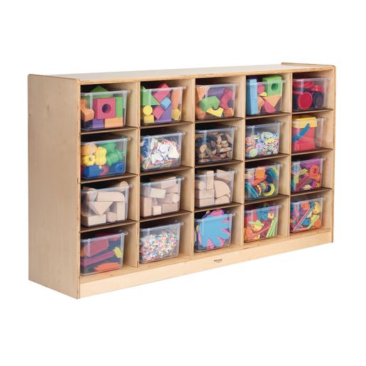 Image of Cubbie Storage Cabinet with 20 Trays
