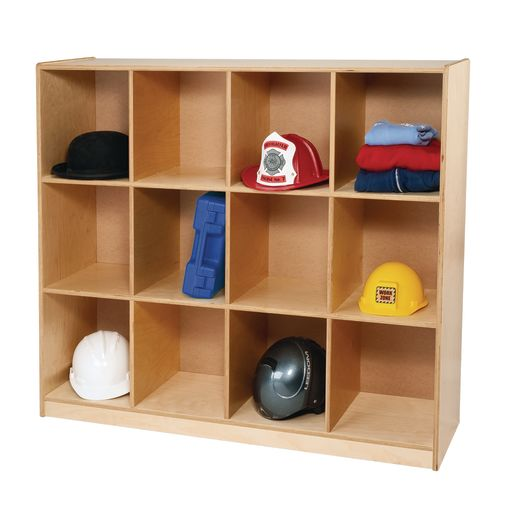 Image of Backpack Cubbie Storage Cabinet - 12 Cubbies
