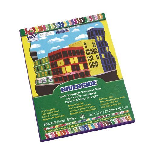 "Assorted Colors Riverside Construction Paper - 12""W x 18""L"