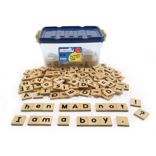 Excellerations® Big Wooden Letter Tiles - Tub of 250