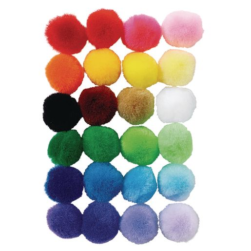 Colorations® Shades of Color Pom-Poms - Set of 6