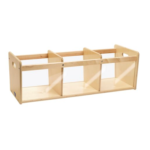 Environments® Toddler Easy View Birch Triple Bin Storage Center