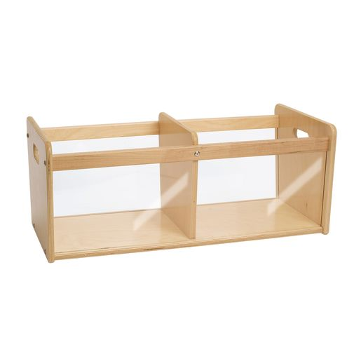 Environments® Toddler Easy View Birch Double Bin Storage Center