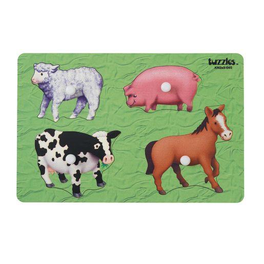 Knob Puzzle - Farm Animals