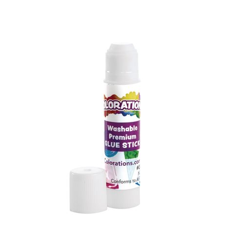 Colorations Premium White Washable Glue Sticks, Set of 50, Each Stick 0.17, Glues Dries Clear and is Acid Free, Use at School or Home, Ideal for Crafting Projects, Non Toxic & Washable School Glue