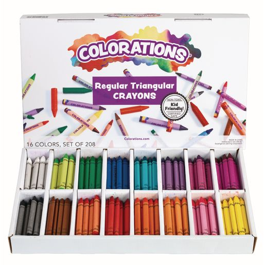 Colorations® Regular Size Triangular Crayons - Set of 208