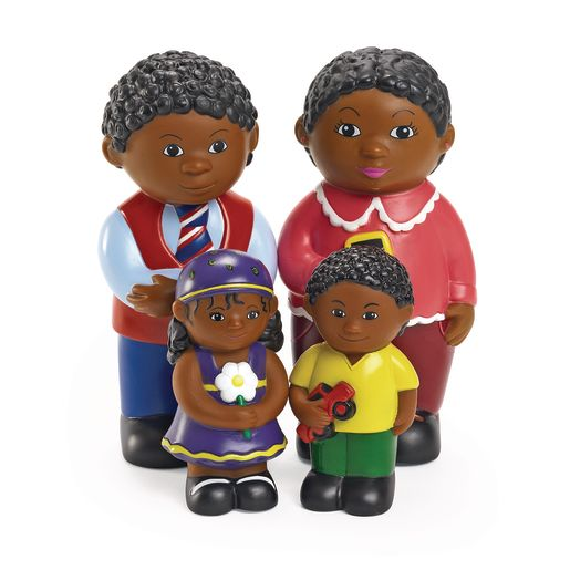 Image of Excellerations Our Soft Family Dolls African American Set of 4