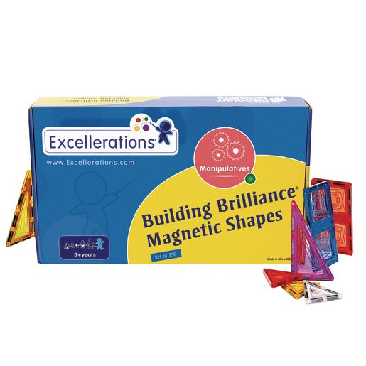 Excellerations® Building Brilliance Magnetic Shapes - 150 Pieces