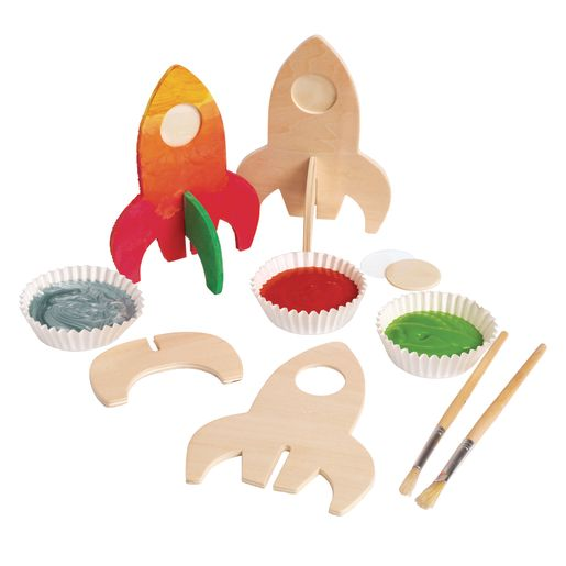 Colorations® Rocket Ship Photo Frames - Set of 12