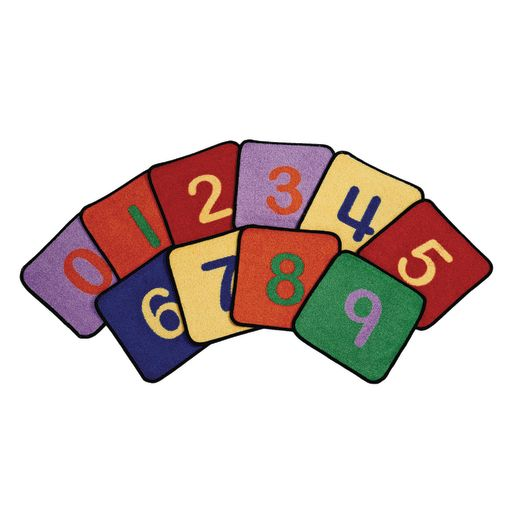 Number Seating Squares 14 Quot Set Of 10 By Learning Carpets
