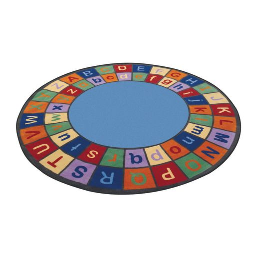 Colorful ABC Carpet - 9' Round
