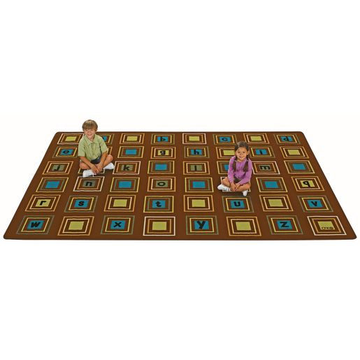 Image of Nature Literacy Squares 4' x 6' Rectangle Premium Carpet