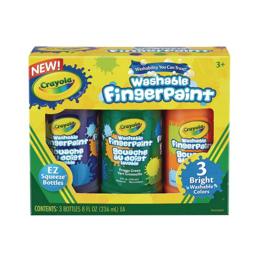 Crayola® Washable Finger Paint - Set of 6