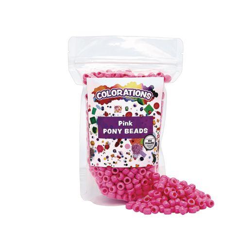 Pink Pony Beads - 1/2 lb.
