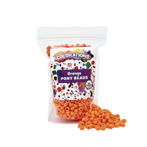 Orange Pony Beads - 1/2 lb._1