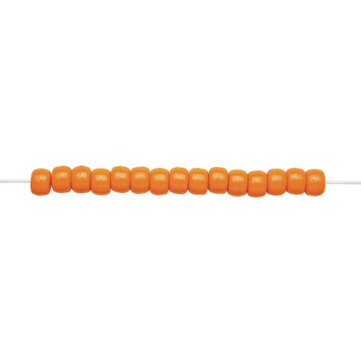 Orange Pony Beads - 1/2 lb._2